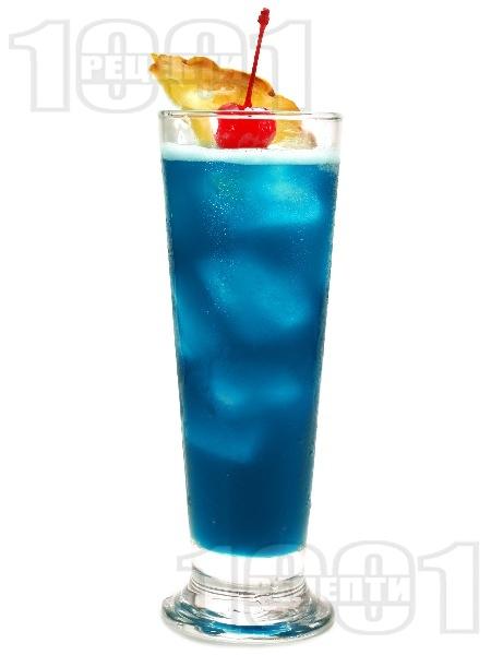 Коктейл Син Хавай (Blue Hawaiian) - снимка на рецептата